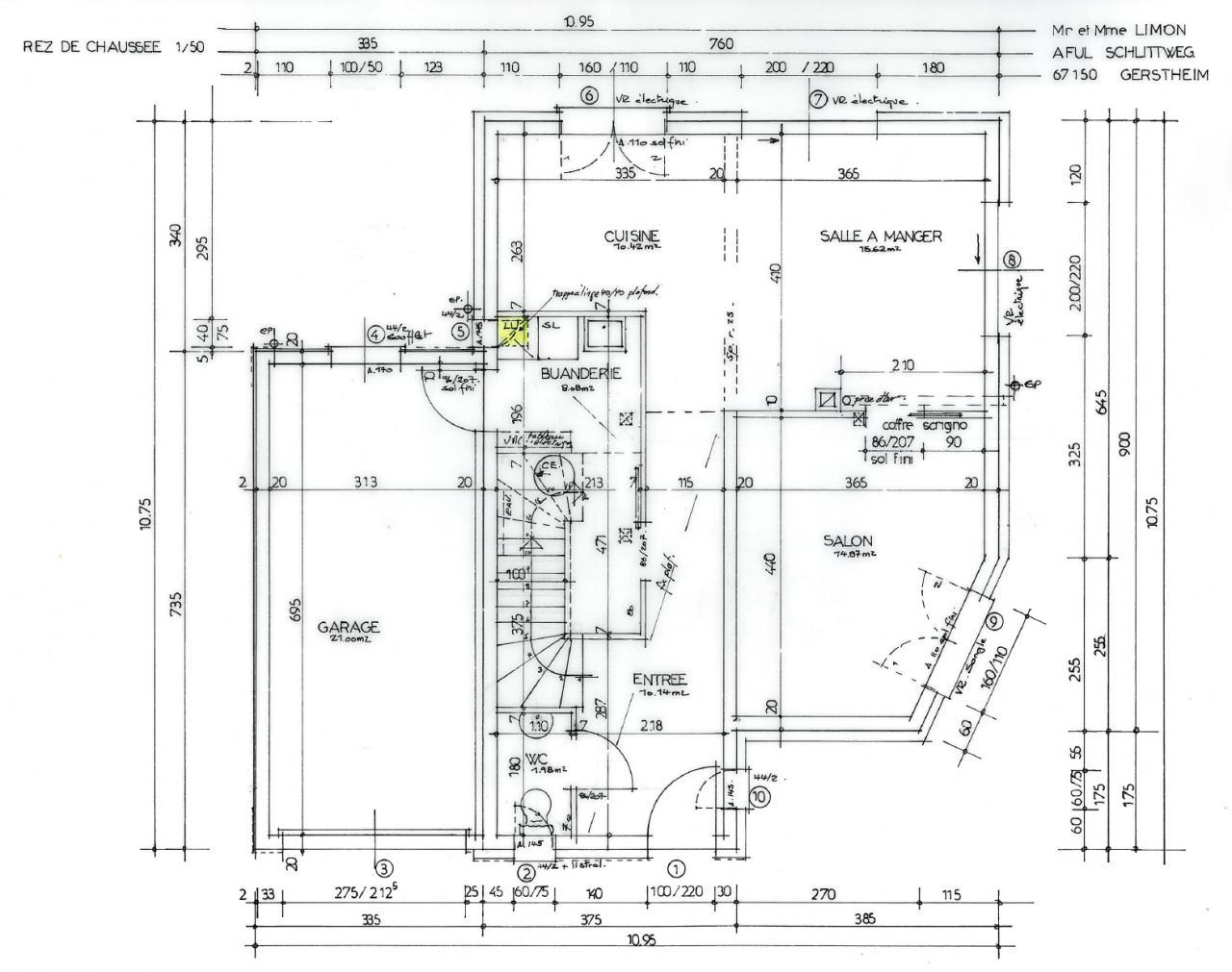 Les plans de la maison for Le plan de la maison